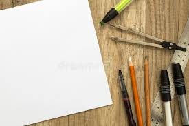 drawing tools and sketch paper stock image image 48674347