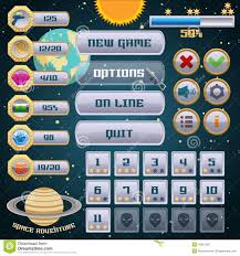design games to download space game interface design stock vector illustration of button
