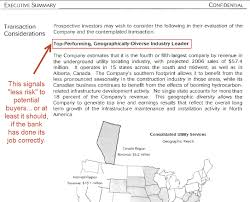 Resume Confidential Information What U0027s In A Confidential Information Memorandum Cim