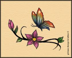 butterfly and flowers design by gilrizzo on deviantart