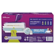How To Clean Laminate Wood Floors Swiffer Amazon Com Swiffer Wetjet Extra Power With Mr Clean Magiceraser