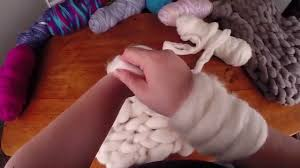 arm knitting with wool tops sliver youtube