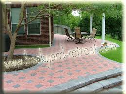 Patio Designs With Pavers by Paver Designs For Backyard Shocking Garden Patio Designs And
