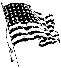 Black American Flag Patch Meaning Distressed American Flag Clipart Black And White Png Clipground