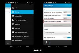 remove bar android how to remove the bar from chat window in the bbm