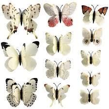 12pcs 3d PVC Wall Stickers Magnet Butterflies DIY Home Decor Poster