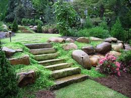 best landscape ideas with decorative rock for garden front yard