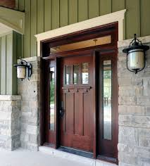 Solid Wood Exterior Doors Picturesque Strong And Secure Solid Wood Entry Doors Inhabit