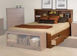 Bookcase Headboard With Drawers Bed With Bookcase Headboard Home Design Ideas