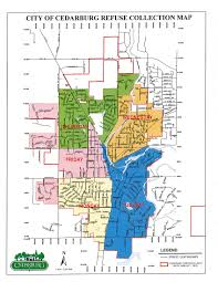 Wisconsin Map Of Cities by Refuse Recycling Yard Waste Disposal City Of Cedarburg