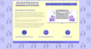 Wedding Rsvp Websites Electronic Wedding Invitations E Invites For Weddings