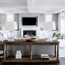 Next Console Table Fireplace Next To Console Table Design Ideas