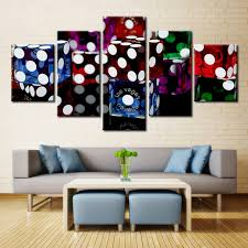Las Vegas Home Decor 5 Poster Las Vegas Dice Casinos Painting Canvas Wall