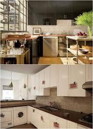 relooker cuisine bois design interieur relooking cuisine bois armoires noires credence