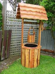 wishing well outdoor planter by kevlights lumberjocks com