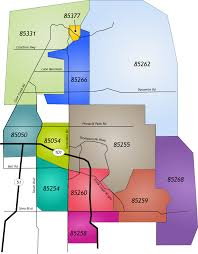 Chandler Arizona Map by North Scottsdale Zip Codes U2022 Sibbach
