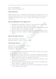 Comprehensive Resume Sample Format by Sheet Metal Resume Free Resume Example And Writing Download