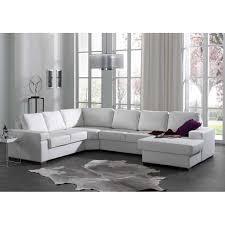canapé blanc d angle canapé d angle avec méridienne droite en simili cuir blanc