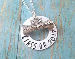 high school class necklaces graduation jewelry etsy