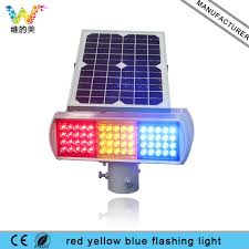 solar powered flashing yellow light construction site solar powered red amber blue safety warning
