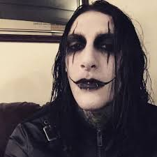 chris motionless motionless in white cool crow makeup dude