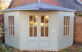 Garden Summer Houses Corner - corner summerhouse scott sheds ltd