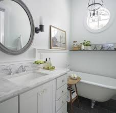 bathrooms with pale gray paint design ideas