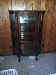 antique curio cabinet with curved glass antique curio cabinets with curved glass antique curved glass curio