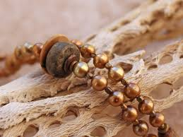 long vintage necklace images Vintage antique guatemalan slingshot pendant long pearl strand jpg