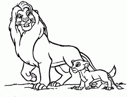 mufasa walking simba coloring kids colouring pages