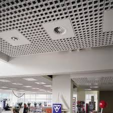 mineral fiber suspended ceiling tile with integrated air