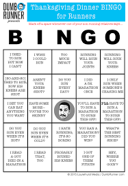 the runner s thanksgiving bingo card remy s dumbrunner