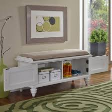 Entryway Wall Organizer Entryway Mudroom Bench With Two Column Shelf Storage And Railing