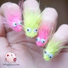 piggieluv furry monsters nail art for fun