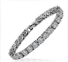 silver bracelet with diamond images 1 carat round excellent design real sona synthetic diamonds jpg