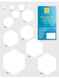 ez quilting hexagon template sheet sew essential
