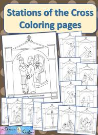 catholic stations of the cross coloring pages catholic