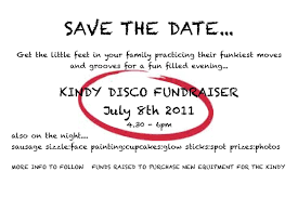 save the date emails kindy disco save the date grace kindergarten