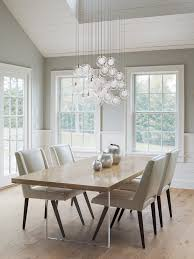 Light Dining Chairs Wood And Lucite Dining Table Transitional Dining Room