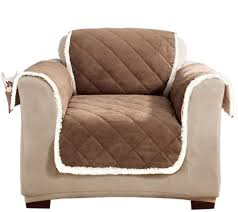 sure fit reversible suede to sherpa chair furniture cover page 1