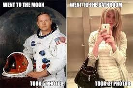 Selfie Meme Funny - moon vs bathroom selfie funny meme funny memes
