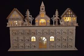 custom christmas village light led city house scene wood carving