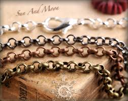 copper colored chain necklace images Petite rolo necklaces jpg