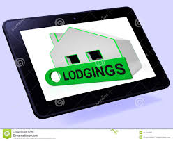 lodgings house tablet means room or apartment available stock