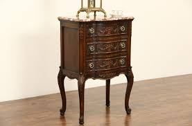 Antique Marble Top Nightstand Sold Marble Top 1920 Antique Carved Chest Nightstand Or End