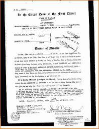 6 sample divorce decree divorce document