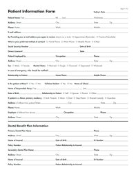 Patient Information Sheet Template Patient History Form Template Fillable Printable Sles For