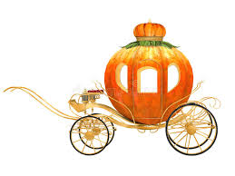 pumpkin carriage cinderella fairy tale pumpkin carriage stock illustration