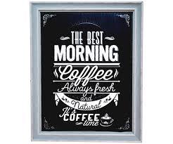 affiche cuisine retro tableau toile cadres imprimé ardoise affiche pub rétro morning