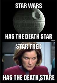 Mad Woman Meme - death star v death stare lemme tell you you make this woman mad
